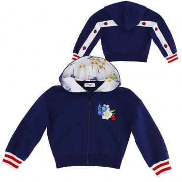 Granatowa bluza dla dziecka Monnalisa 003557 A