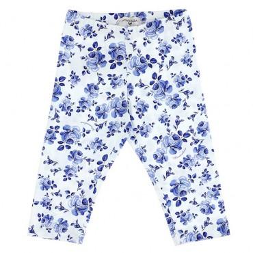 Legginsy niemowlęce w kwiaty Monnalisa 003558 A