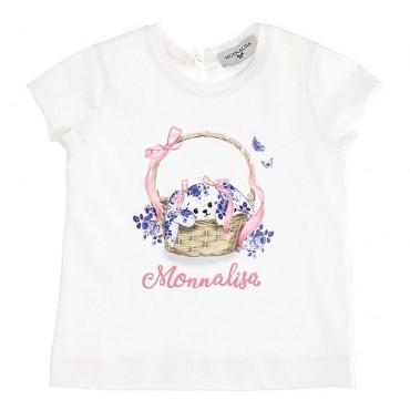 T-shirt niemowlęcy z nadrukiem Monnalisa 003559 A
