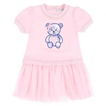 Ekskluzywne ubranka dla niemowląt. Sukienka niemowlęca z dzianiny Monnalisa 003568 A