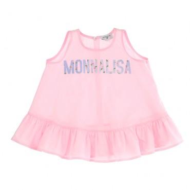 Ekskluzywna odzież dla dzieci. Różowy top dziewczęcy Monnalisa 003571 A