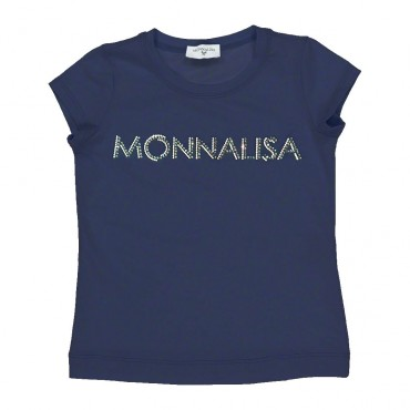 T-shirt dla dziewczynki basic Monnalisa 003573
