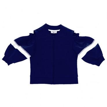 Ekskluzywna odziez dla dzieci. Granatowa bluza dla dziewczynki Monnalisa  003578 A