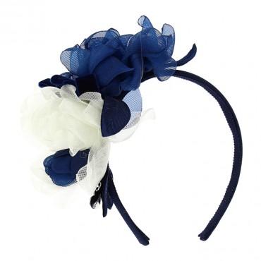 Opaska do włosów puffy Monnalisa Chic Blue 003583 A
