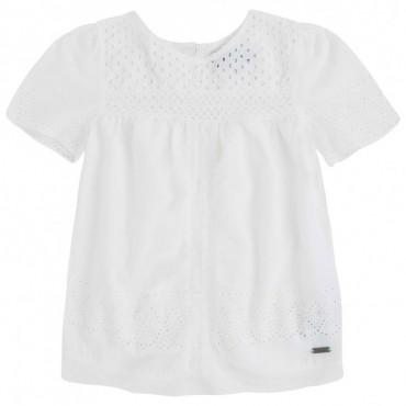 Biała bluzka dla dziecka Pepe Jeans PG300554