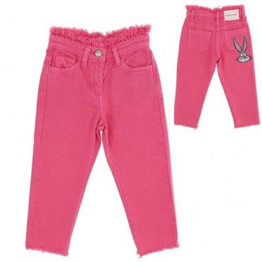 Różowe spodnie dziewczęce Monnalisa 003597 A
