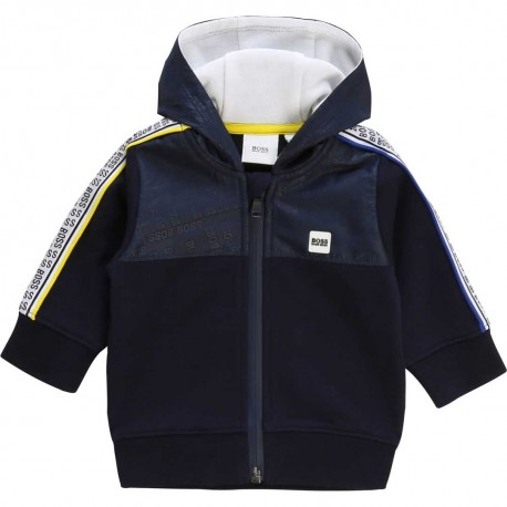Sportowa bluza dla chłopca Hugo Boss 003605 - oryginalne  ubranka dla dzieci A
