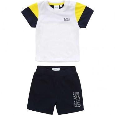 Komplet niemowlęcy Hugo Boss 003608 - oryginalne ubranka dla dzieci A
