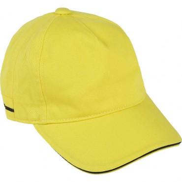 Żółta bejsbolówka dla chłopca Hugo Boss 003610 - ekskluzywna odzież chłopięca A
