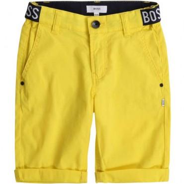 Żółte bermudy dla chłopca Hugo Boss 003613