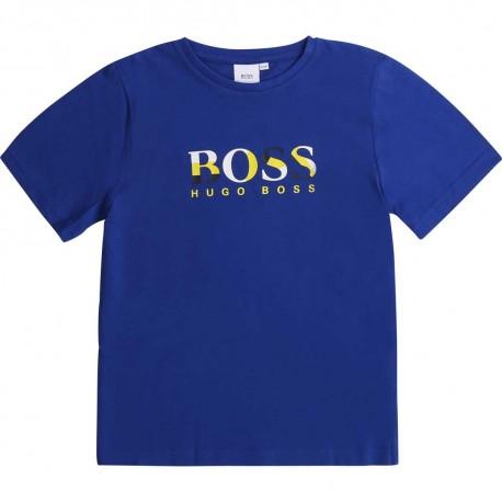 Niebieski t-shirt dla chłopca Hugo Boss 003618 - sklep dla dzieci A