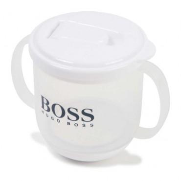 Biały kubek niemowlęcy Hugo Boss 003631 A