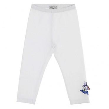 Białe legginsy dziewczęce Monnalisa 003639