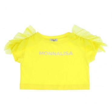 Żółty t-shirt dla dziecka Monnalisa 003645*