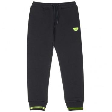 Spodnie chłopięce hologram Emporio Armani - ekskluzywne ubrania dla dzieci - 003661 A