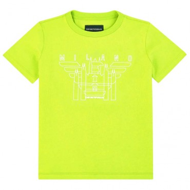 T-shirt chłopięcy Milano Emporio Armani 003664