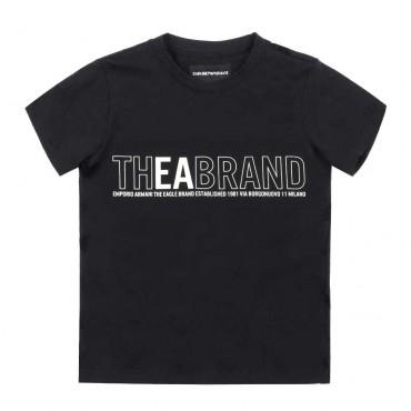 T-shirt dla dziecka nadruk Emporio Armani - oryginalne ubrania dla dzieci - 003666 A
