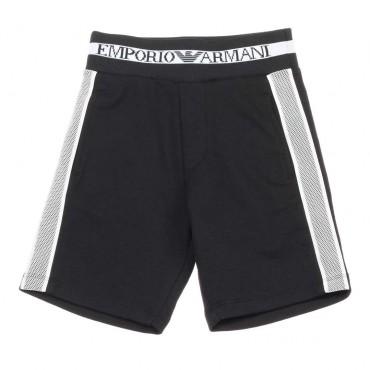 Czarne bermudy dla chłopca Emporio Armani - oryginalne ubrania dla dzieci 003667 A