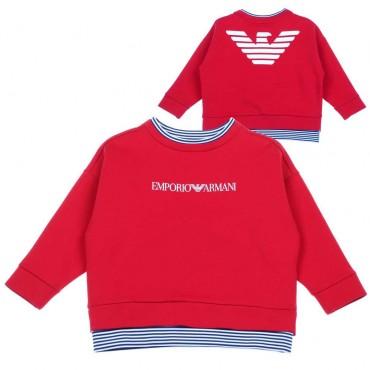 Czerwona bluza dla chłopca Emporio Armani - sklep dla dzieci - 003669 A