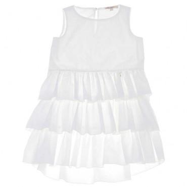 Letnia sukienka dziewczęca Patrizia Pepe 003679 - ekskluzywne ubrania dla dzieci - A