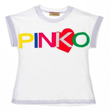T-shirt dla dziecka logo Pinko Up 003682