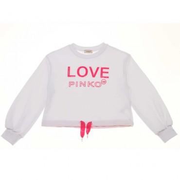 Bluza dla dziewczynki off white Pinko Up - stylowe ubrania dla dzieci - 003688 A