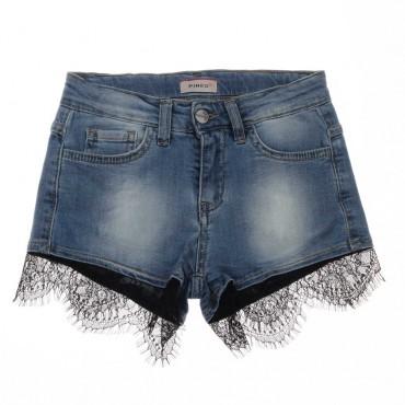 Jeansowe szorty dla dziecka Pinko Up - ekskluzywne ubrania dla dzieci - 003690 A