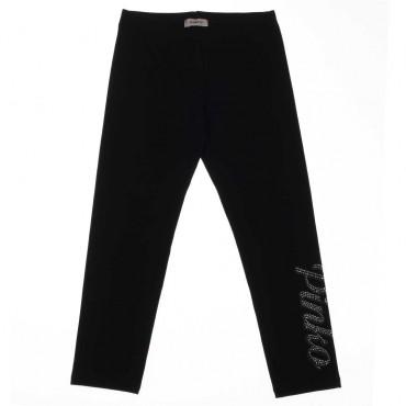 Czarne legginsy dla dziewczynki Pinko Up - stylowe ubrania dla dzieci - 003691 A