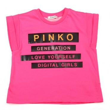 Pudełkowa bluzka dla dziewczynki Pinko Up - modne ubrania dla dzieci - 003695