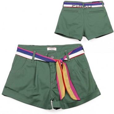 Bawełniane szorty dla dziewczynki Pinko Up - ekskluzywne ubrania dla dzieci - 003697 A