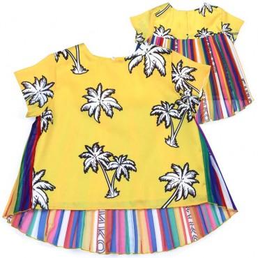Fantazyjna bluzka dla dziewczynki Pinko Up - stylowe ubrania dla dzieci - 003698 A