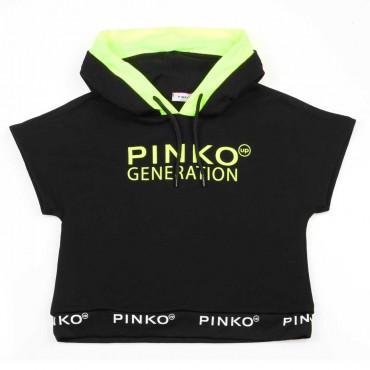 Czarna bluza dla dziewczynki Pinko Up 003702