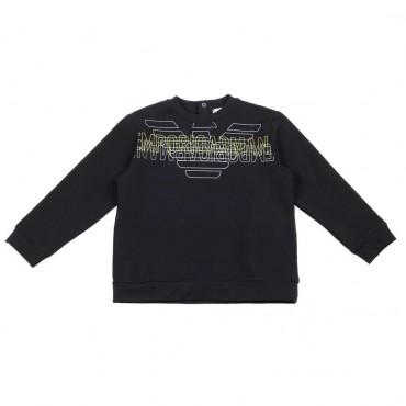 Granatowa bluza dla małego chłopca Armani - stylowe ubrania dla dzieci - 003706 A