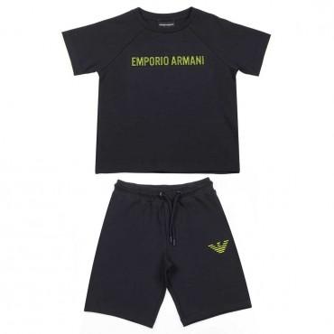 Komplet dla chłopca Emporio Armani - modne ubrania dla dzieci - 003707 A