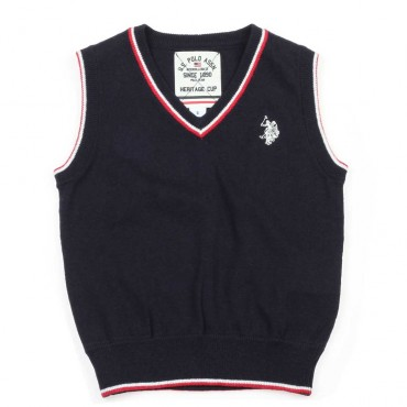 Bezrękawnik dla chłopca U.S. Polo Assn - eleganckie ubrania dla dzieci - 003713 A