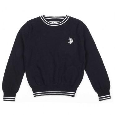 Sweter dka chłopca z kaszmirem U.S.Polo - ekskluzywne ubrania dla dzieci - 003715 a