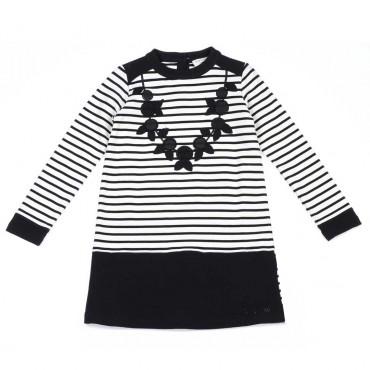 Trapezowa sukienka dla dziewczynki Twin Set - ekskluzywne ubrania dla dzieci - 003721 A