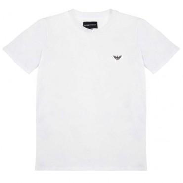 T-shirt chłopięcy off white Emporio Armani - ubrania dla dzieci - 003731 A