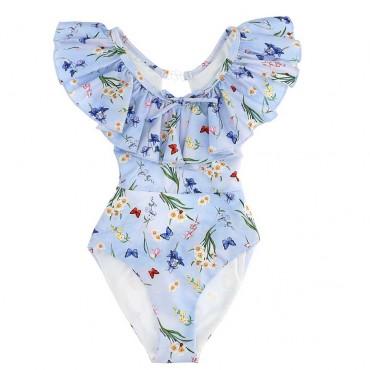 Stroje kąpielowe dla dzieci - jednoczęściowy kostium kąpielowy Monnalisa 003647 A