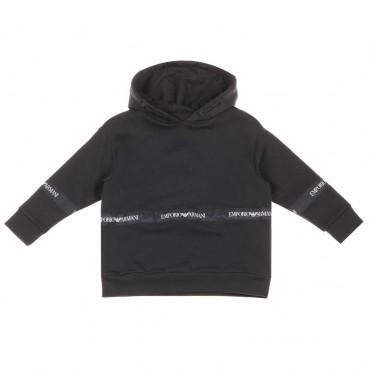 Bluza z kapturem Emporio Armani - ekskluzywne ubrania dla chłopców - 003743 A