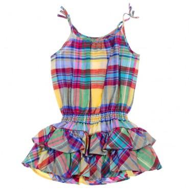 Lniana sukienka dziewczęca Ralph Lauren - sklep dla dzieci - 003752 A