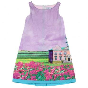 Prosta sukienka dziewczęca Moschino Kid 003764 A