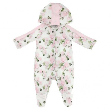 Pajacyk niemowlęcy z kapturem Monnalisa 003777