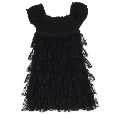 Dziewczęca sukienka z koronki Monnalisa 003804 A