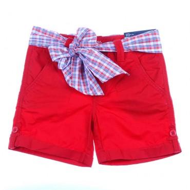 Czerwone szorty dziewczęce Tommy Hilfiger 003811 A
