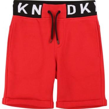 Czerwone szorty chłopięce DKNY 003813 A