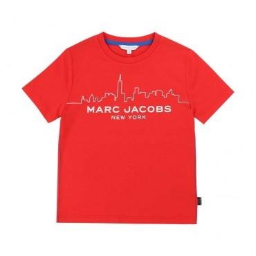 Czerwony t-shirt dla chłopca LMJ 003820