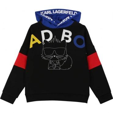 Chłopięca bluza z kapturem Karl Lagerfeld 003826 A