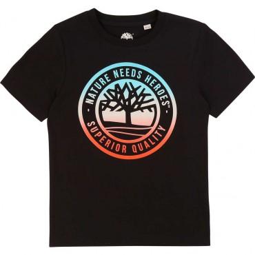 Czarny t-shirt dla chłopca Timberland 003829