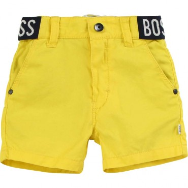 Żółte szorty dla niemowlaka Hugo Boss 003834 A